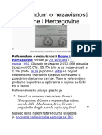 Referendum o Nezavisnosti Bosne i Hercegovine
