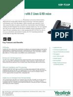 Yealink SIP-T21P Entry Level IP Phone Datasheet
