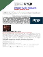 Comunicato Visite Guidate Con Teatro Itinerante Estate 2015