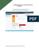 Servidor dhcp en Windows