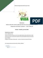 Informe Alternativo Foro por la Vida PIDCP