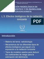 Efectos biologicos de la radiacion ionizante