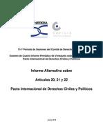 Informe Alternativo PIDCP CivilisDDHH Sinergia