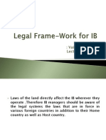 Legal Frame-Work for IB