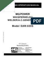 Welder Generators DAW500S Rev 0 Manual DataId 18254 Version 1