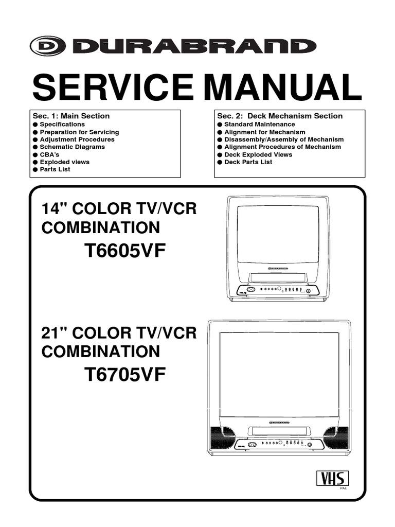 Durabrand T6605VF_T6705VF Manual de Servicio.pdf   Soldering   Electrical  Connector