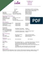 Ian Fairlee Theatrical Resume (Updated June 2 2015)