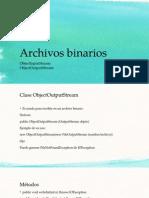 Archivos binarios