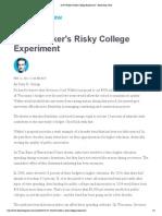 Scott Walker's Risky College Experiment