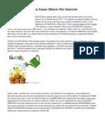 Ideas Creativas Para Ganar Dinero Por Internet