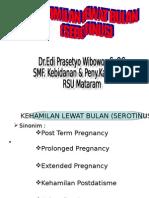 Kehamilan Lewat Bulan(Serotinus)