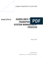 UTG-9 (1991) Guidelines for the Transportation System Management Process