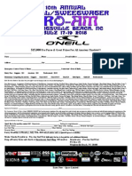 2015 O'Neill Sweetwater ProAm Surf Fest Entry Form