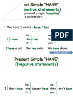 Present Simple Verb Have and How Many Ingles 8h30!13!05-2015