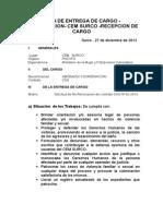 Acta de Entrega de Cargo Surco 2013