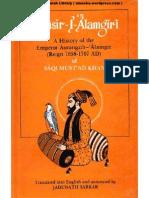 Maasir-i-Alamgiri a History of Emperor Aurangzeb by Jadunath Sarkar