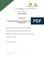 CONFIGURACIÓN BASICA DE VLAN