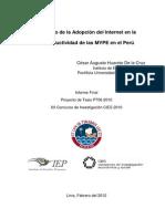 Huaroto 2012 Efecto Adopcion Internet Productividad Mype Informe Final Cies