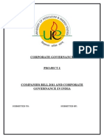 Corporate Governance Project insurance
