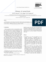 Glossary of Normal Faults Peacock Et Al 2000