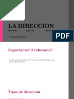 Diapositivas de Direccion