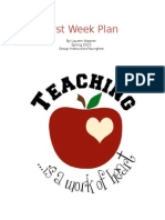best practices  first week plan
