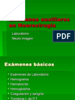Exámenes Auxiliares en Neurocirugía