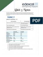 Edexcel Biology Unit 5 Notes