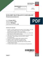 Matura 2015 - geografia - poziom rozszerzony - arkusz maturalny (www.studiowac.pl)