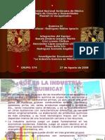 Diapositivas en Equipo de La Industria Quimica en Mexico
