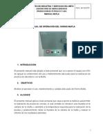 Manual de procedimiento ASTM MUFLA