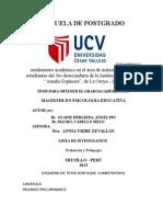 Tesis de Autoestima y Rendimiento Academico 2013 1
