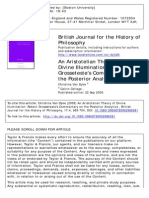 British Journal for the History of Philosophy Volume 17 issue 4 2009 [doi 10.1080%2F09608780902986581] Van Dyke, Christina -- An Aristotelian Theory of Divine Illumination- Robert Grosseteste's Commen.pdf