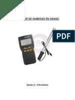 Md7822 Medidor de Humedad en Granos Manual Español
