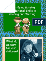 Identifying Missing Foundational Skills in Reading and Writing