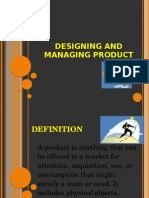 Designing and Managing Product