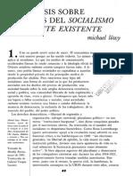 Tesis Sobre La Crisis Del Socialismo Realmente Existente [Dialéctica, Nº 21, 1991]