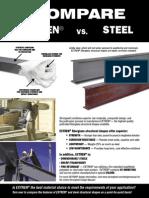 EXTREN vs Steel Comparison Flyer
