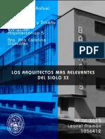 LOS GRANDES ARQUITECTOS DEL SIGLO XX