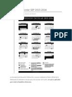 Calendario Escolar SEP 2015