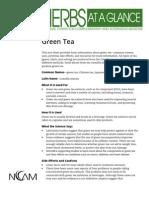 GREEN TEA nccam