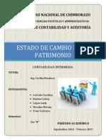 ESTADO DE CAMBIO DE PATRIMONIO
