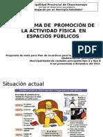 1  PROMOCIÓN DE EJERCICIO FISICO EN ESPACIOS PUBLICOS CHANCHAMAYO..ppt