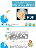 Importancia Lactancia Materna