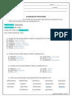 Atividade de Lingua Portuguesa Aumentativo e Diminutivo 3º Ou 4º Ano Resposta