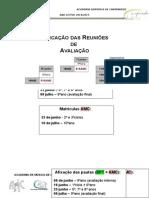 Marcação Das ReunAvaliação 3º Per 2015