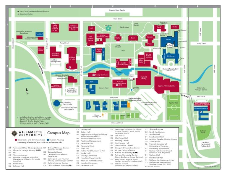 northwood university campus map Willamette University Map Universities And Colleges northwood university campus map