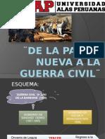 Diapositivas de La Patria Nueva a La Guerra