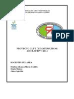 Proyecto Club de Matematicas