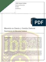 Maestria en Diseno y Gestion Pastoral